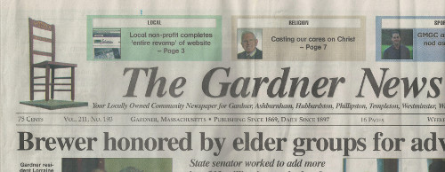 Gardner News Front Page