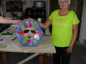 stained glass stepping stone 002