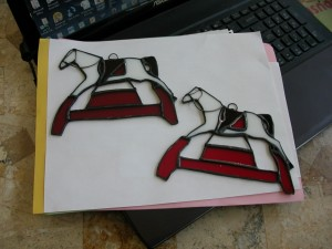 toy town horse stained glass & fusing pictures 001