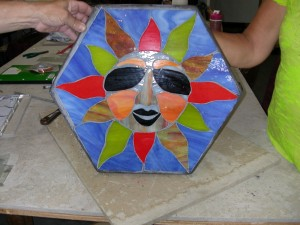 stained glass stepping stone 004