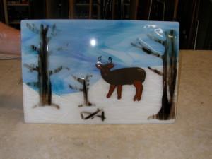 Heron, Deer panel and jewelry 009