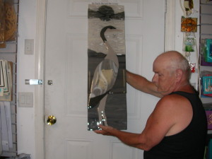 Heron, Deer panel and jewelry 011
